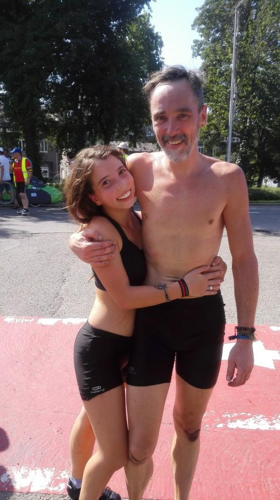Tily en Etienne nà de 100 km wedstrijd WK 2015